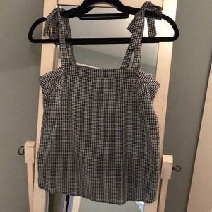 J.Crew Gingham Bow Tank Top